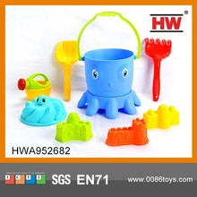 Funny Plastic Summer Toy Beach Bucket Set for Child Toy