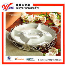 2015 New Design Five Ceramic Snack Dish