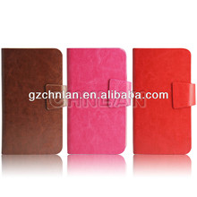 """Mobile phone flip case Case with sucker & card slots, 5"""", 4.8"""", 4"""" mobile phone available"""