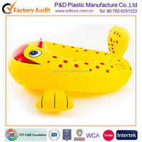 PVC vinyl fish animal shape inflatable baby bumper boat