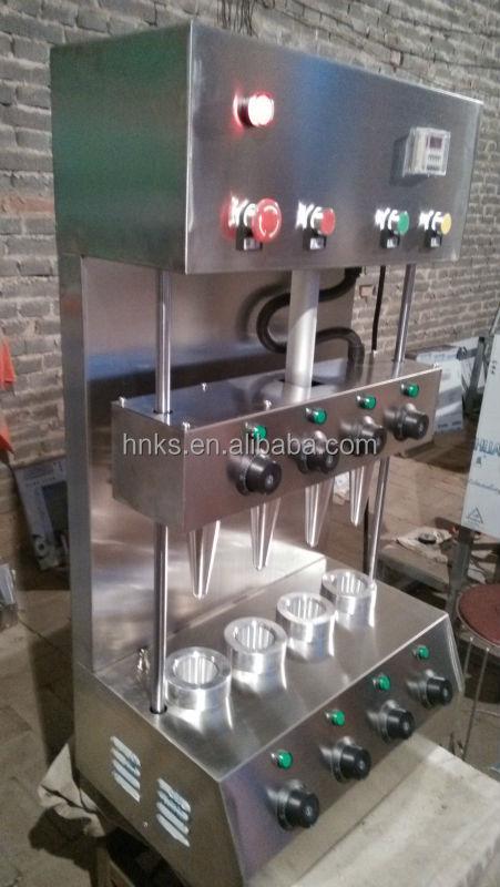 Aço inoxidável de pizza cone máquina automática para venda
