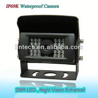 IP69K good night vision 170 degree mini waterproof car reversing camera for heavy duty
