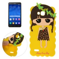 China Factory Cute Cartoon Pattern Protective Silicone Case for Huawei Honor 3X G750