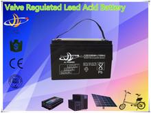 valve regulated lead acid AGM battery 12v 100ah solar/UPS/inverter/controller/electrical bike/golf car battery 12v 100ah