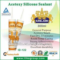 long-lasting flexibility&excellent adhesion Window Glass Ceramics Installation Acetoxy Silicone Sealant (SGS,REACH)
