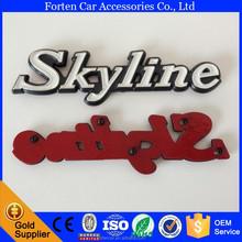 C210 Car ABS Chrome Black White Skyline 3D Letter Sticker Badge Emblem