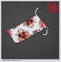 Fashionable soft microfiber drawstring sunglasses pouch