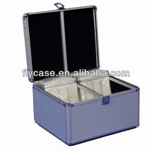 Hot sale aluminum CD/DVD carrying case portable hard aluminum cases