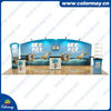 curved tension fabric back wall displays