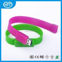 soft silicone custom logo bracelet usb stick, 32 gb usb wristband, bracelet female usb flash drive