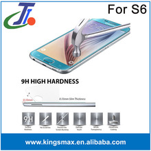 2015 New Arrival Ultra Smooth 0.33mm 9H Mobile phone / Cell phone Tempered Glass Screen Guard for Samsung galaxy s6