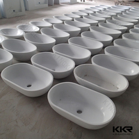 kingkonree white matt drop in wash basin/ half pedestal wash basin/ philippines basin