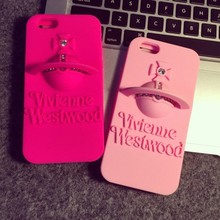 New Design Diamond Saturn Shape Silicone Mobile Phone Case for iPhone 6