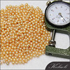 Wholesale AAA 3-4 mm round freshwater gold no hole pearl beads