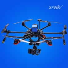 2km range carbon fiber foldable professional GPS rc hexacopter drone bat X750 with GoPro or Sony camera for FPV