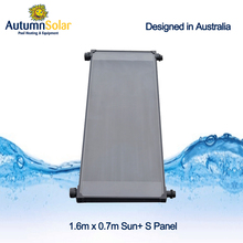 Simple and fast installation plastic solar pool heater collectors system