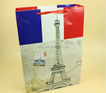 Luxury paper shopping gift bag , T-shirt paper packaging bags