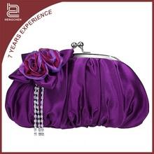 New model champagne discounted designer handbags for women satin