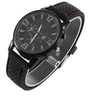 Sports Watch Cool Military Silicone Men Outdoor Sport Watch Wrist fashion Watch Black/White Surface