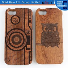 [GGIT] Newest Wood Carving Case for iPhone 5G Carved Wood Phone Case for iPhone 5G