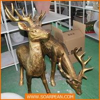 Christmas decorative deer statue