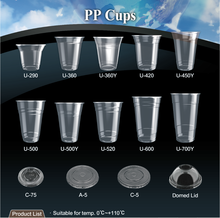 T-PP2-T dessert beverage water yogurt milkshake juice cold hot drinks PET killer disposable plastic PP cup with straw