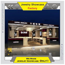 2015 famous brand Jewelry display showcase Classy style instore design for jewelry store