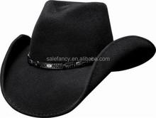 Cheap Bullhide Wild Horse Wool Felt Hard Cowboy Hat Cap QHAT-2142