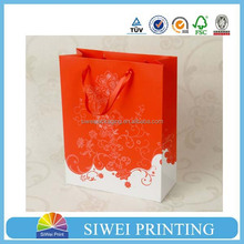 2015 Luxury Design hot-stamping 3d pop-up gift paper bag big decorative with CMYK Printing