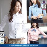 Guangzhou Factory New Stylish Long Sleeve Seasonal Women's Shirt