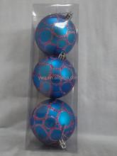 60mm hand blown clear glass balls bue matt ball decorating christmas clear glass ball iridescent glass ball