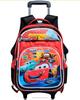 Cute Kid School Trolley Bag Wheeled School Backpack