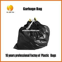 custom biodegradable recycled PE drawstring plastic garbage bag
