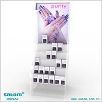 Hot selling acrylic nail polish trade show displays for 20 bottles nail varnish holders