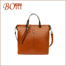 mens leather business bright color ladies tote bag
