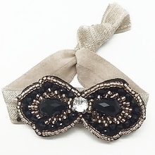 fashion elastic hair bands with bead wholesale
