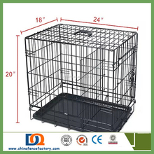 High Quality Dog Cage/pet cage/big iron dog cage with wheels and tray for sale cheap