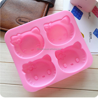 HelloKitty Silicone Teacup Muffin Cupcakes Mold for DIY Homemade Mini Cakes
