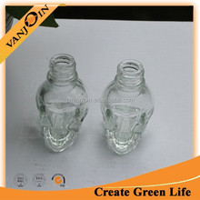 15ml Skull Beverage Glass Bottle With Screw Neck
