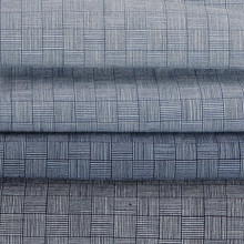 China Supplier,100 Cotton Indigo Woven Checked Fabric