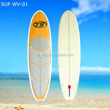 different size high quality wooden/bamboo/color painting SUP board/surf board