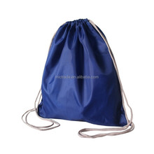 Promotional polyester drawstring backpack bag