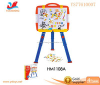 Hot selling multi-functional plastic easel painting eductational toys for kids