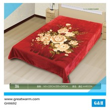 solid color polyester fabric filling quilted blanket