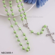 Tasbih Manufactures Promotional Acrylic Cross Pendant Rosary Necklace
