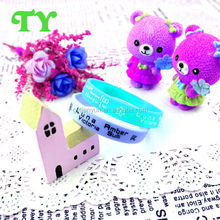 teddy bear silicon printing band for kids