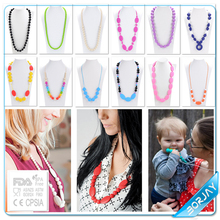 Compliance with EN71 CE baby silicone teething custom jewelry