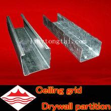 El canal de metal/hoja de metal galvanizado canal/c canal de montantes de metal tamaños