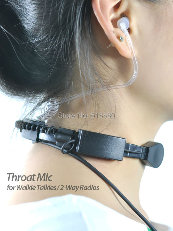 Throat-Mic-Walkie-Talkies-2-way-radios-side-view