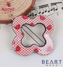 Cool kids accessory flower shaped bobby pins children plastic hair pin